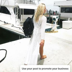 White Maxi Cover up, One size fits all